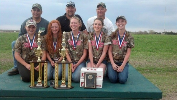 Lincoln Southwest High school ladies pink team 1st place 16 yard
